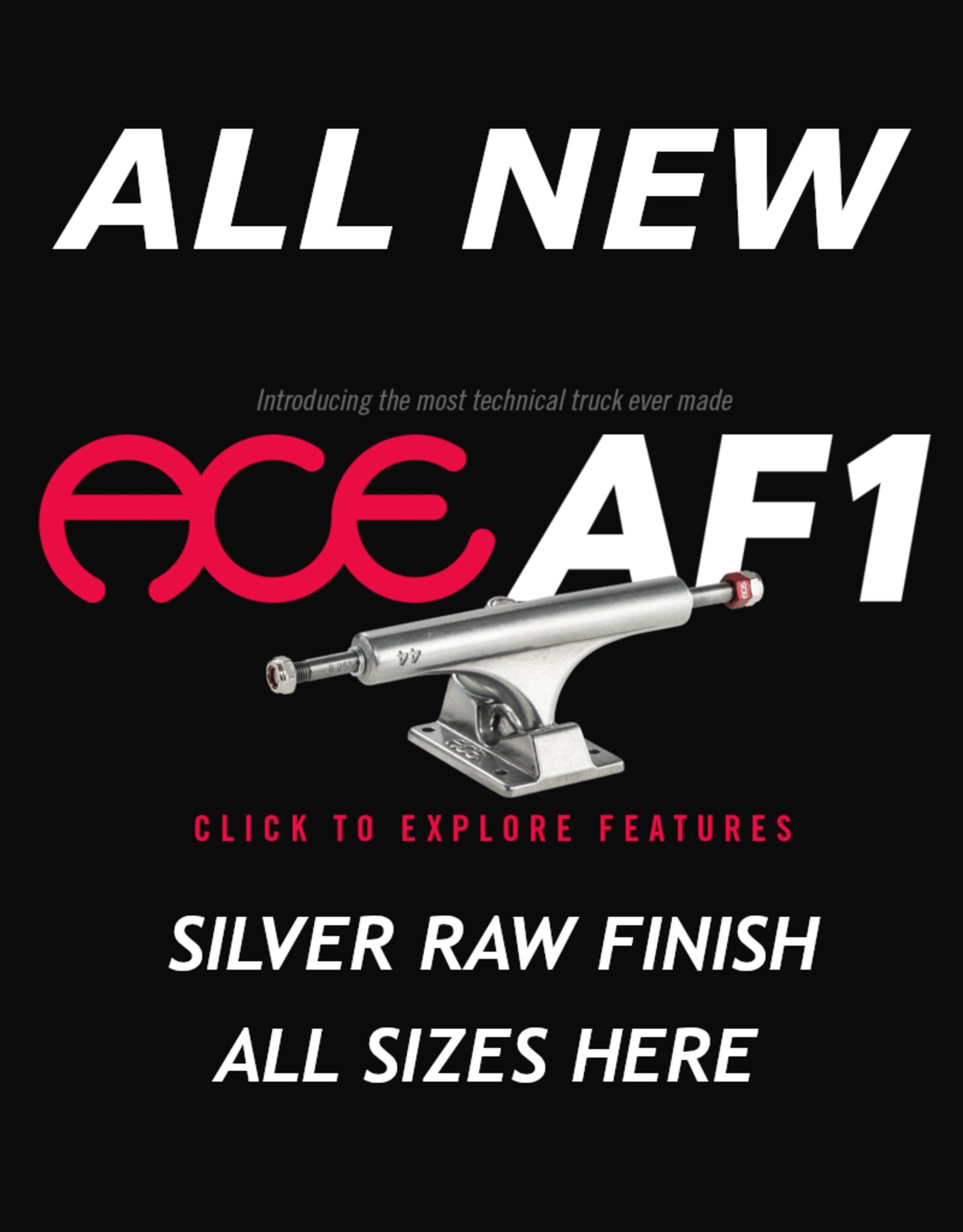 ACE TRUCKS ACE - AF1 - SKATEBOARD TRUCKS - RAW POLISH - ALL SIZES
