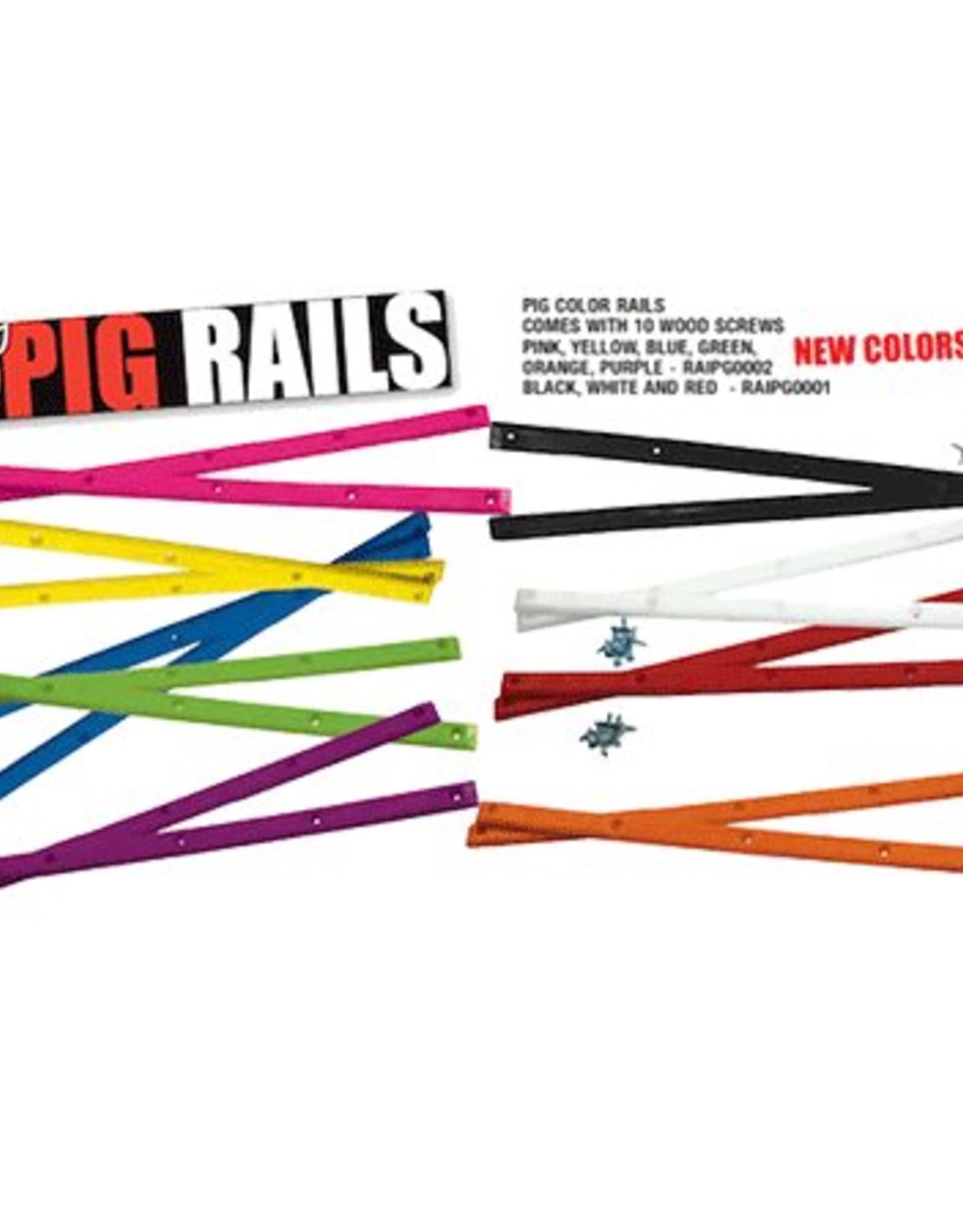 PIG WHEELS PIG RAILS Various colours