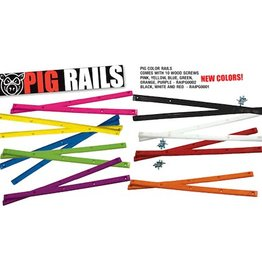 PIG WHEELS PIG RAILS Various colours