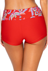 SUNSETS 35B Swim Short Seascape Banded