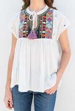 Adelante Embroidered Bib Shirt