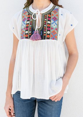 Adelante Embroidered Bib Shirt