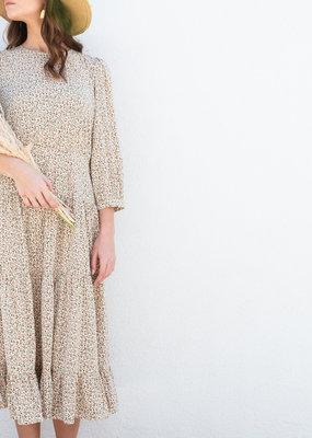 Adelante Floral Print Midi Dress