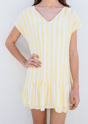 Adelante Opera Yellow Stripe Dress