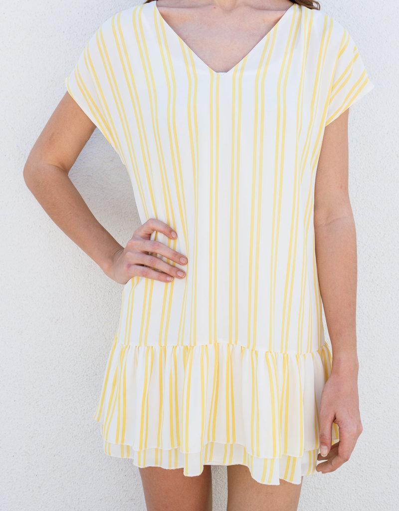 Adelante Opera Yellow Stripe Dress
