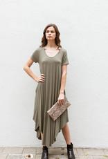 Adelante V-Neck Pocket Midi Dress