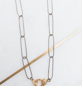 Adelante Paper Clip Necklace