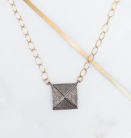Adelante Pave Diamond Pyramid Necklace
