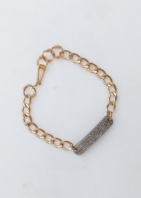 Adelante GF Chain Bracelet w/ Pave Diamonds