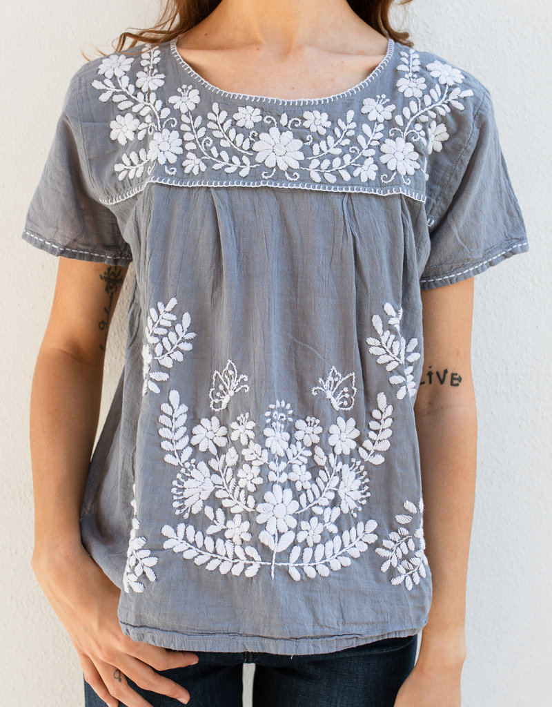 Adelante Multi Embroidered Top