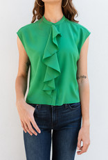 French Connection Cropped Ruffle Top