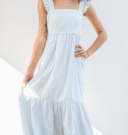 Adelante Mint Stripe Glam Dress
