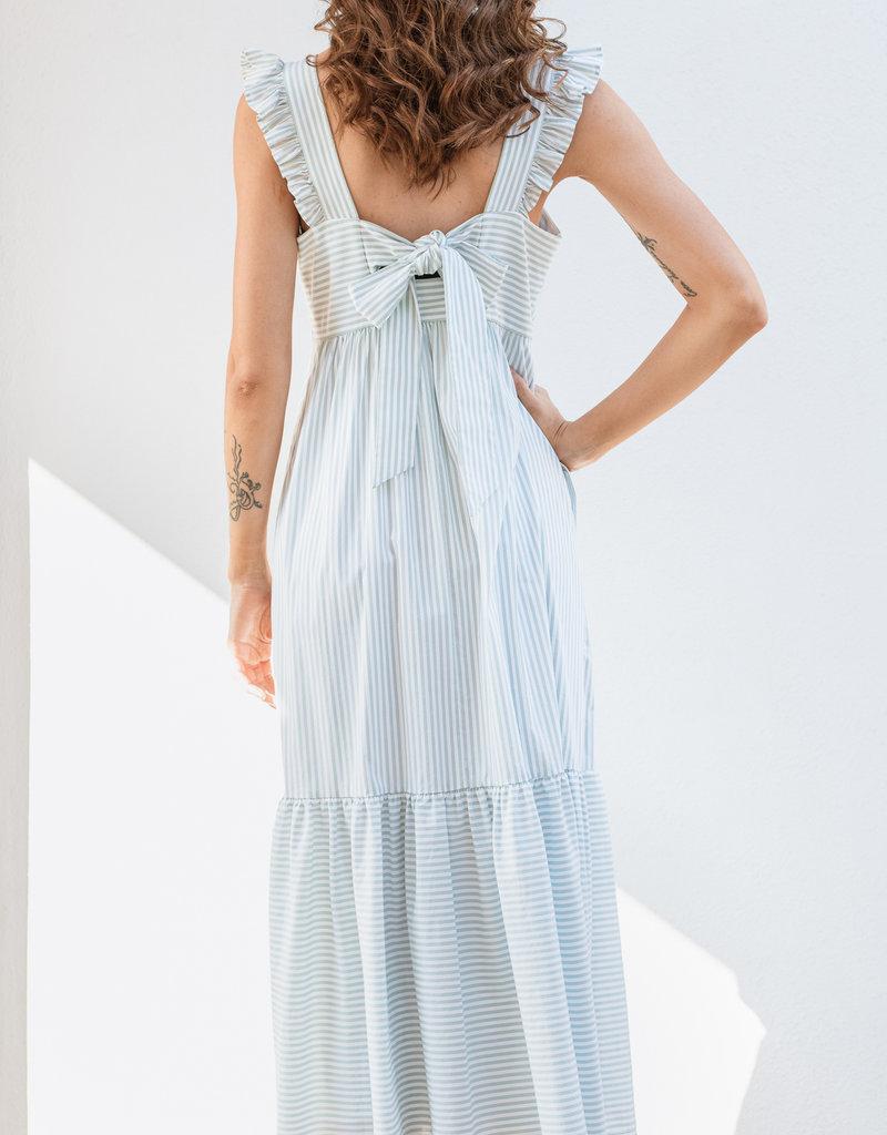 Adelante Mint Stripe Glam Dress