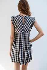 Adelante Black and White Check Dress