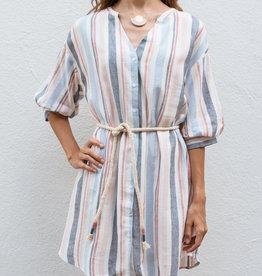 Adelante Multi Stripe Shirt Dress