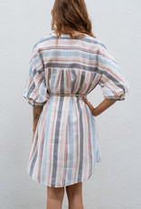 Adelante Multi Stripe Shirt Dress
