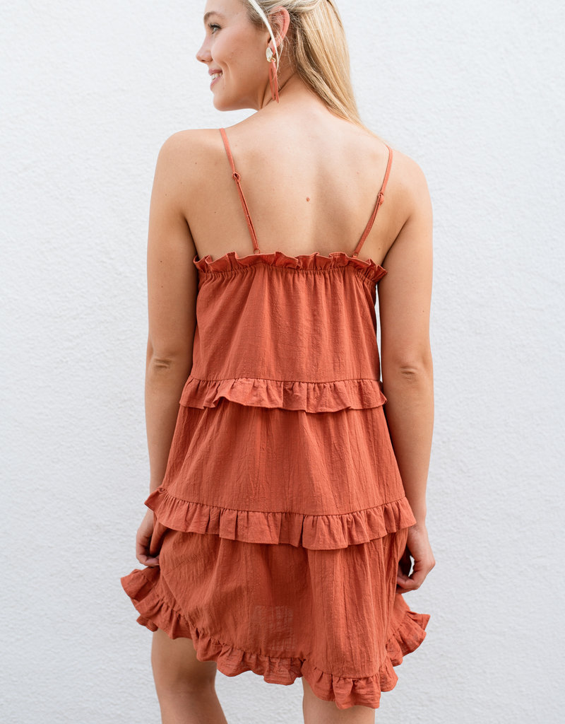 Adelante Orange Sleeveless Dress