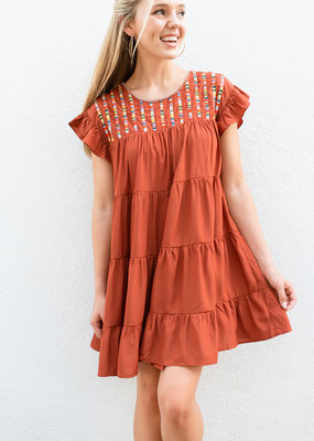 Adelante Burnt Orange Dress