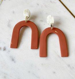 Adelante Coral Reef Horseshoe Earrings