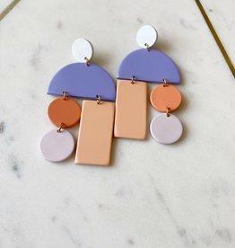Adelante Matte Pastel Mobile Earrings