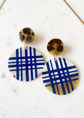 Adelante Plaid Ornament Earrings