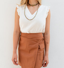 Adelante Orange Rust Skirt