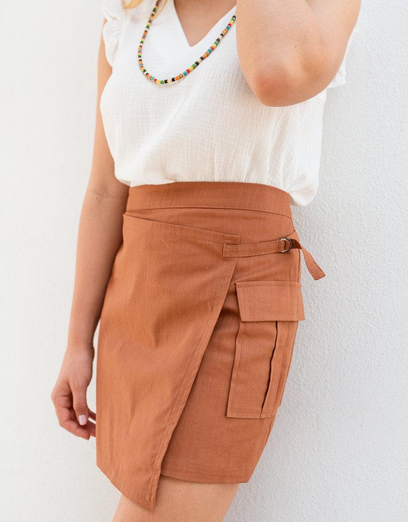 Adelante Orange Rust Skirt