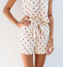 Adelante Orange Polka Dot Shorts