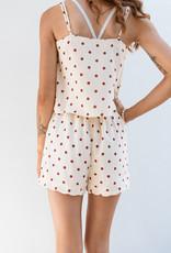 Adelante Orange Polka Dot Shorts