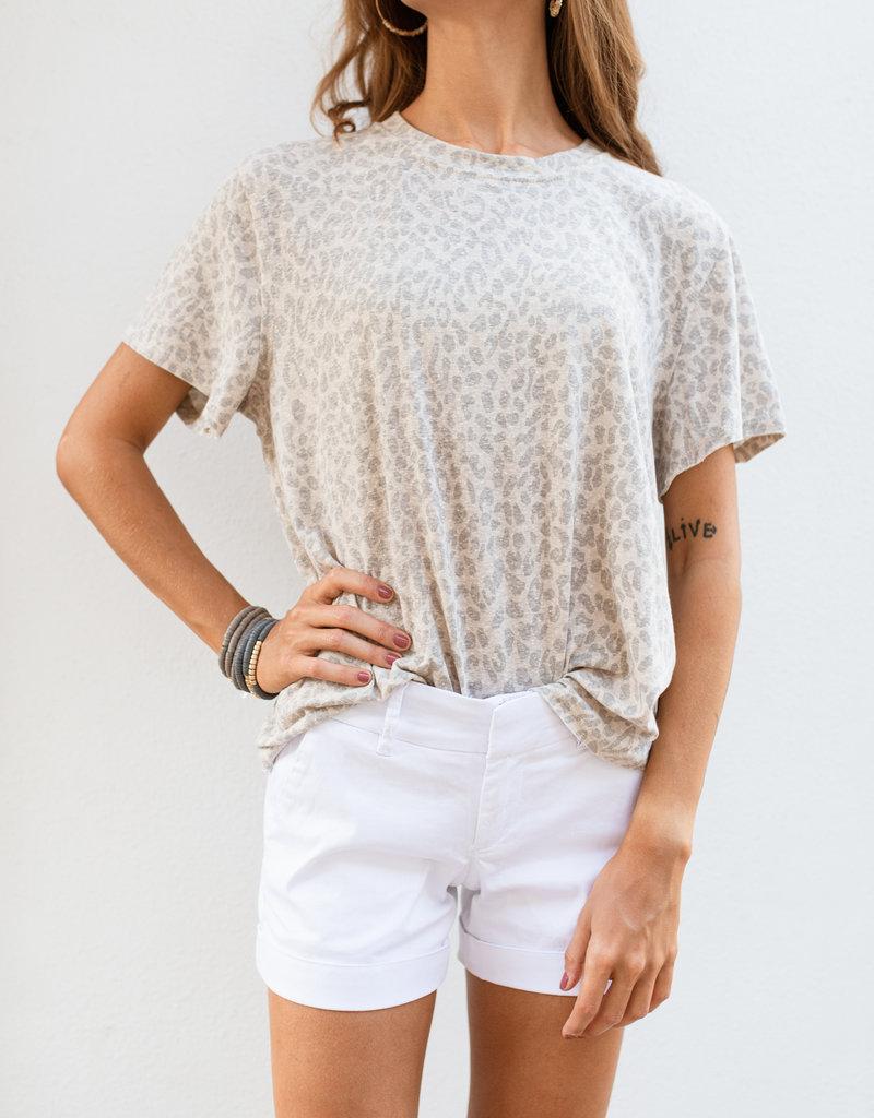 Adelante Leopard Print Knit Top