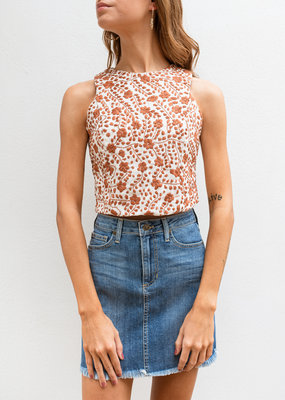 Adelante Embroidered Crop Top