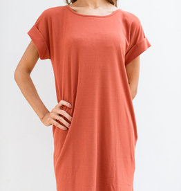 Adelante Rust Casual Dress