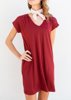 Adelante Wine Dress