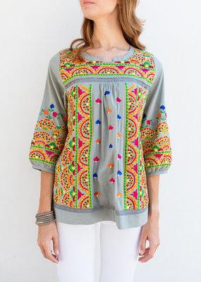 Adelante Fun Embroidered Top