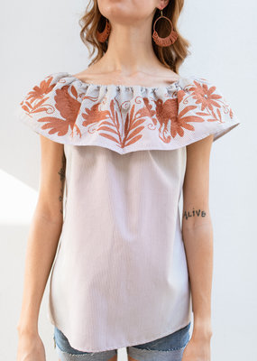 Adelante Patterned Vuelo Top