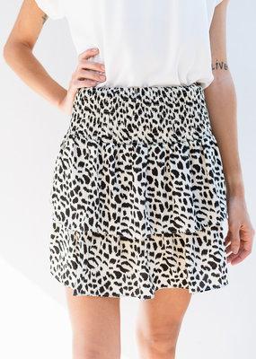 Adelante Ivory Cheetah Skirt