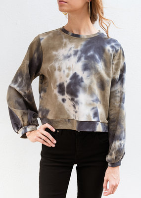 Adelante Long Sleeve Tie Dye Sweatshirt