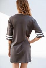 Adelante Charcoal Tee Dress