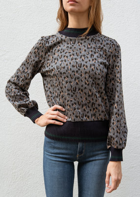Adelante Leopard High Neck Sweater