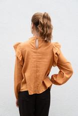 Adelante Flutter Shoulder Top