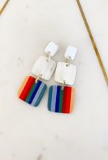 Sunshine Tienda Rainbow Outline Earrings