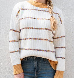 Adelante Threaded Stripe Sweater