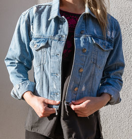 Adelante Cropped Denim Jacket