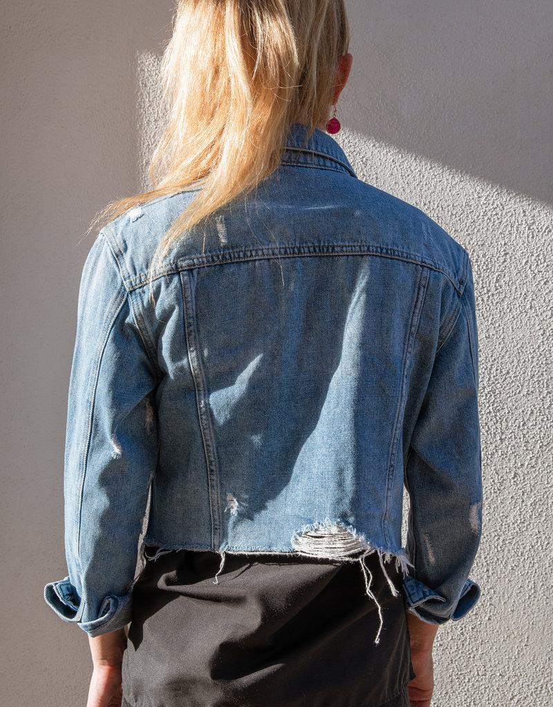 Adelante Cropped Denim Jacket
