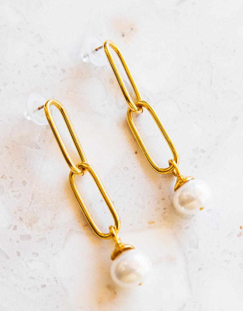 Adelante Paper Clip Earrings