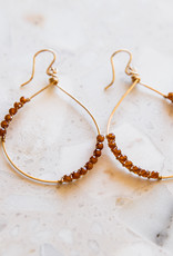 Adelante Orange Garnet Earrings