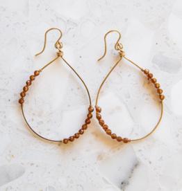 Adelante Orange Garnet Earrings