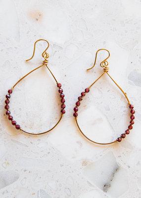 Adelante Red Garnet Earrings