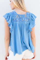 Adelante Hailey Embroidered Top