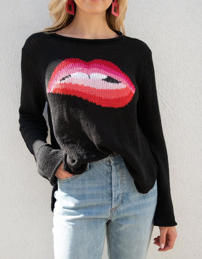 Adelante Lips Crew Sweater
